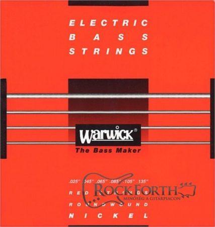 42401 Warwick Red Label 6 Húros 025 - 135/ Rozsdamentes Acél Basszusgitárhúr