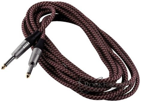 RockCable Instrument Cable - straight TS (6.3 mm / 1/4), black - 3 m / 9.8 ft.