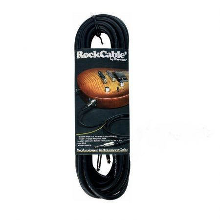 RockCable Instrument Cable - straight TS (6.3 mm / 1/4), black - 5 m / 16.4 ft.