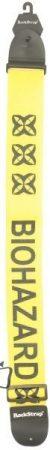 RockStrap Guitar Strap - Biohazard - Nylon, yellow, 50 mm wide