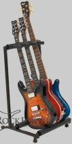 RockStand Multiple Guitar Rack Stand - for 3 Electric Guitars / Basses, Flat-Pack