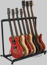 RockStand Multiple Guitar Rack Stand - for 7 Electric Guitars / Basses, Flat Pack