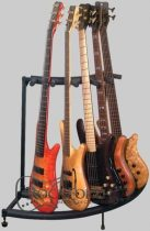 RockStand Multiple Guitar Corner Stand - for 5 Electric Guitars / Basses, Flat Pack