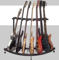 RockStand Multiple Guitar Corner Stand - for 7 Electric Guitars / Basses, Flat Pack