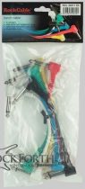 RockCable Multicolored Patch Cables - 15 cm - Angled Plug - Six Pack
