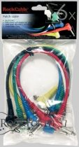 Authorized dealer access  RockCable Patch Cable - angled TS (6.3 mm / 1/4), multi-color, 6 pcs. - 30 cm / 11 13/16