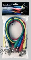 RockCable Patch Cable - straight TS (6.3 mm / 1/4), multi-color, 6 pcs. - 60 cm / 23 5/8