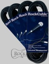 RockCable Microphone Cable - XLR (male) / XLR (female) - 3 m / 9.8 ft.