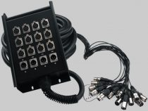 XLR (male) or XLR (male and female) plug, black and available in different lengths.