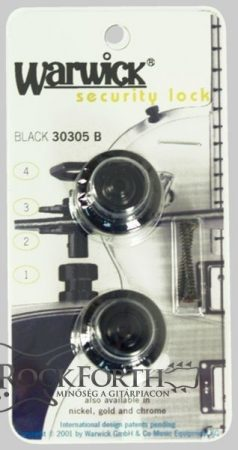 Warwick Security Lock, Black Straplock